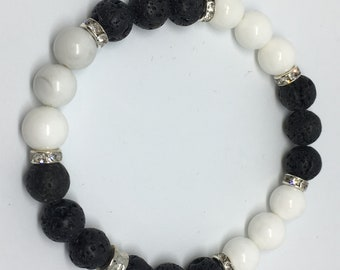 Stretch bracelet lava