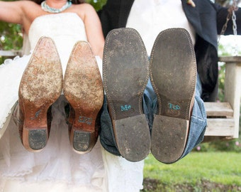 I Do and Me Too Wedding Shoe Stickers