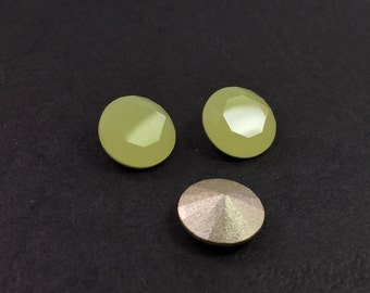 10pcs x Round 47SS Olivine Czech Crystals SS47 (Y47024)