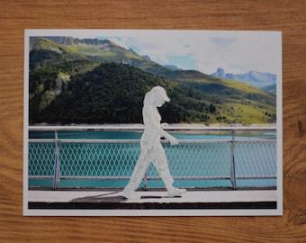 Walking Photo Illustration