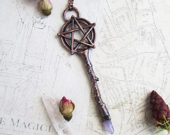 Witch Necklace, Pentagram jewelry, wiccan necklace, pentacle pendant, witchcraft necklace, pentacle jewelry, mgic jewelry, wicca amulet