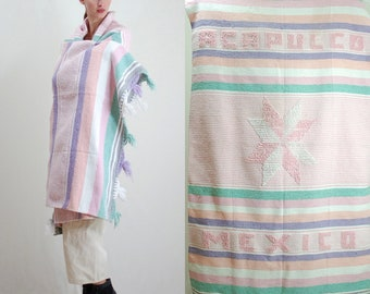 Mexican Blanket / Mexico / Acapulco / Southwest Blanket / Southwestern / Camp Blanket / Picnic Blanket / Vintage Blanket / One Size