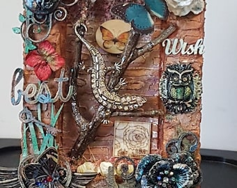 Mixed Media Canvas. Best Wish