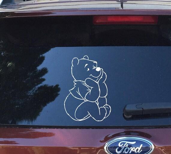 Winnie The Pooh Vinyl Decal-Pooh Bear Silhouette Decal-Winnie The Pooh Car Decal-Vinyl Car Decal-Mac Book-Sticker-Winnie The Pooh