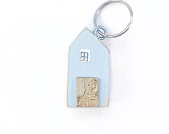 Wood House Key Ring, Key Chain, Keyring, Wooden Gifts, Wood Keychain, Key Fob, Keychain, Key chain House, Key Rings, Wood Keyring, Wood Gift