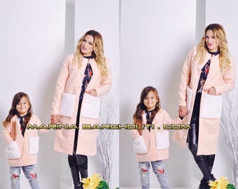Mother and Daughter Coat/Jacket Outfit, set of two