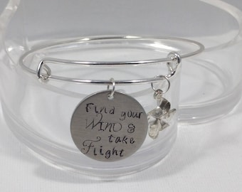 Empowerment Gift, Find your Wind and Take Flight, Pinwheel Charm, Gift for her, Graduation Gift, Just Because Gift, Gift for a Teen