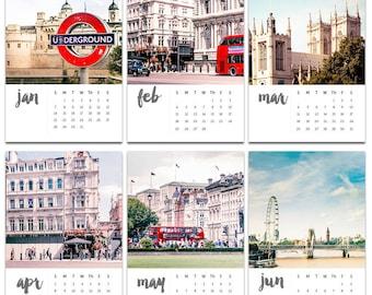 Londres calendrier 2018 photographie fine art photographie 2018 bureau calendrier avec vintage de Londres photographie de rue urbain 2018 chevalet