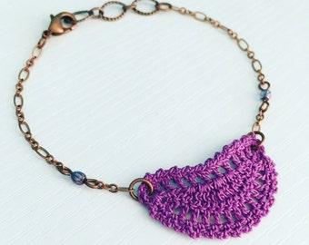 Mini Addison Crochet Bracelet - Grape