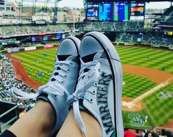 Seattle Mariners Shoes (Converse Style)
