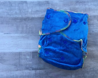 Blue Bamboo Fitted Cloth Diaper- 2 Inserts