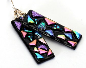 Black Jewel Mosaic earrings