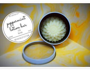 Organic Peppermint Lotion Bar