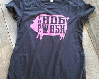 Pure Hog Wash Tee/Country T-shirt/Farm Tee/Pig T-shirt