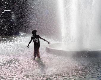 Washington Square Park, NYC, New York City, Fountain, Summer