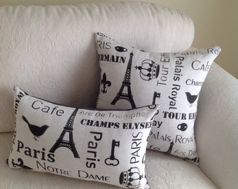 Paris themed cushion