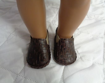 Dark Brown CHELSEA ANKLE BOOTS- Slip on Ankle Boots--for 18 Inch dolls-- Shown on my american girl doll
