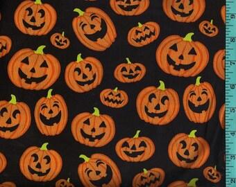 Fall Autumn Jack-O-Lantern, Fabric Quilting Crafting Home Decor