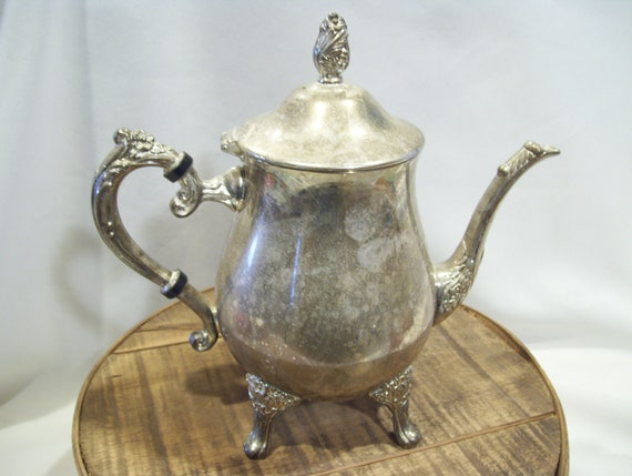& Silver Plated Coffee Pot Serving Coffee