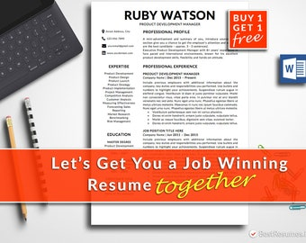Professional Resume Template Instant Download Modern Resume Template CV Template CV Design Free Resume Template Word Business Resume MS Word