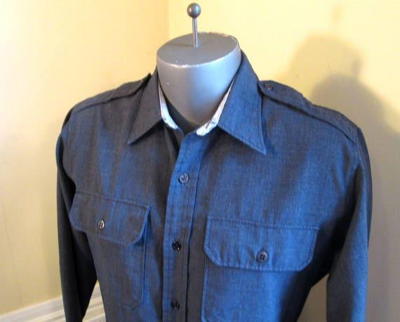 60s Military khaki shirt Tropical Army shirt Vintage Epaulets Shirt Union Made Army The Conqueror shirt Military shirt L XL L5ZAId9Y