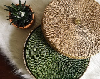 Bright Green Vintage Place Mats - Set of 6