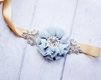 Junior Bridesmaid Sash, Flower Girl Sash, Bridal Belt, Maternity Sash, Bridal Sash, Flower Girl Sash, Gray Sash, Gray Gold Sash, Belt