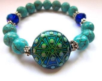 Mood Jewelry, Gemstone Bracelet, Mood Bracelet, Color Changing, Magnesite Jewelry, Funky Jewelry