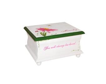 "Baby Keepsake Box Memory Box Baby -you will always ""bee"" loved baby girl gift hand painted baby shower gift"