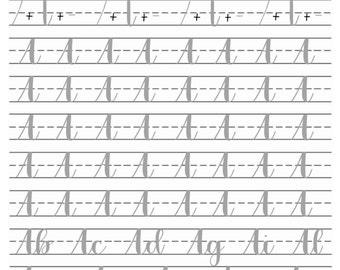 Alphabet Practice Sheets Printable Calligraphy Modern