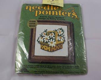 Vintage Needle Point Kit Daisies Flowers 1974 Sunset Design