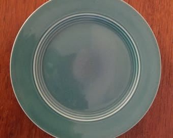 """Homer Laughlin Harlequin Luncheon Plate, Spruce Green, Fiestaware. 9.25"""" wear consistant with age."""