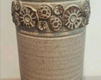 Wishon Harrell Vase - Wheel Thrown Pottery - Vintage - Signed Vase - Wishon Harrell Signed Ceramic Vase - Artist Signed Pottery - Fine Art