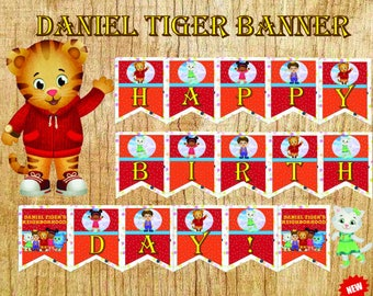daniel tiger party, daniel tiger banner, daniel tiger, tiger banner, birthday banner, birthday, banner, tiger birthday, daniel birthday