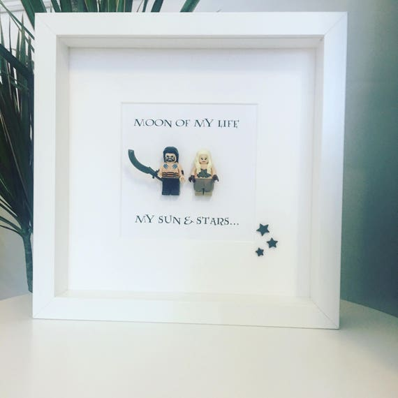 Game of Thrones Gift Wedding Minifigure Frame. Khaleesi