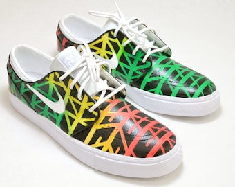 Tribal Pattern Nike SB Stefan Janoski - Custom Hand Painted Shoes