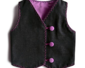 "Vest reversible ""Little Russian""."