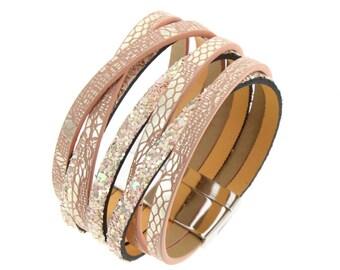Powder Pink Cuff Bracelet