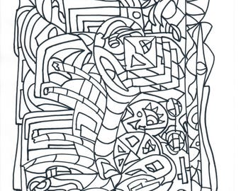 Printable A4, Coloring page, for All Ages, Fun and interesting