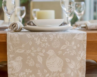 Christmas Partridge in a Pear Tree Table Runner