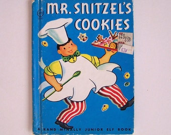 Mr. Snitzel's Cookies by Jane Flory  - Children's Book - Rand McNally Junior Elf Book #8050
