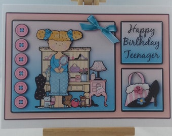 Birthday card for teenager girl - Fashion accessories