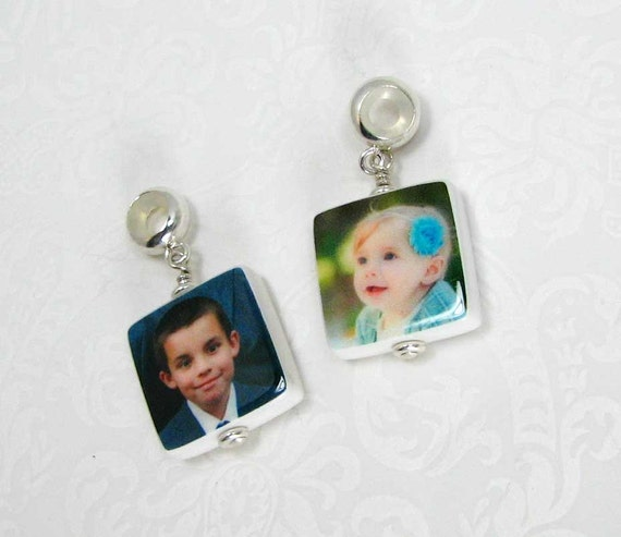 2 Photo Charms - XSM - Designed to fit the Name Brand Bracelets - C6x2a