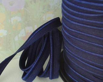 5yds Elastic Ribbon Piping Dark Blue 1/2 inch 12mm FOE Stretch Trim Lip Cord sewing elastic piping upholstery trim ppl