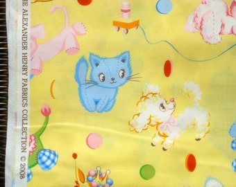 Alexander Henry fabric Binky's Best Friends 2008 FQ or more