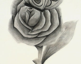 Butterfly Rose (frame less)