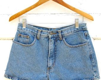 80s High Waisted Denim Shorts