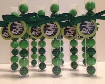 Paintball, Paintball Party, Paintball Camouflage Party theme Gumball Tube Party Favors, Set of 12, with tags and Ribbon