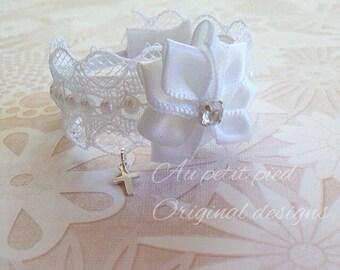baptism bracelet, baptism gift, cross baby jewelry, christening gift, dedication gift, baby photo prop, baby girl jewelry- newborn bracelet