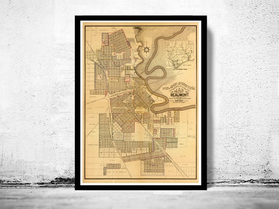 Buy Old Dallas Texas Map Vintage Historical Map Antique: Old Map Of Dallas 1922 Texas